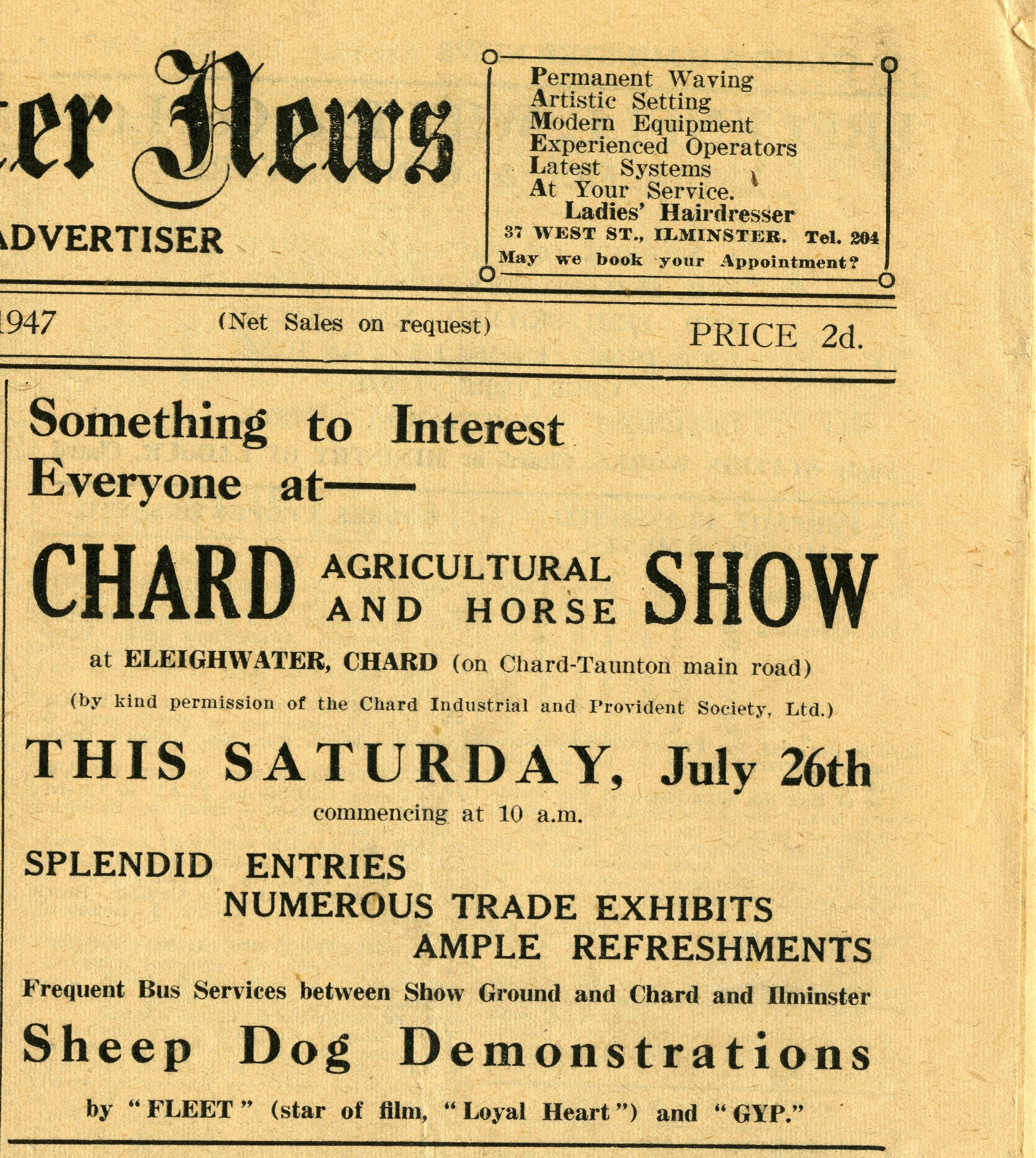 Chard and Ilminster News 26th July 1947223